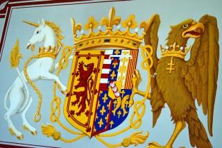 Unicorn and eagle, royal emblems