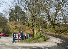 Rydal car park, beginning of the hike