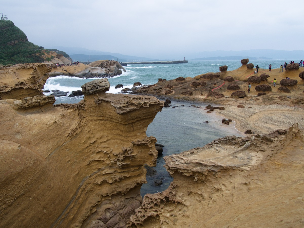 Road trip in Taiwan - Braving the crowds at Yelhiu Geopark