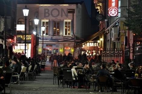 Bucharest Old City At Night