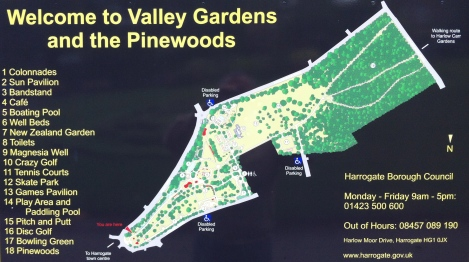 Map of Valley Gardens