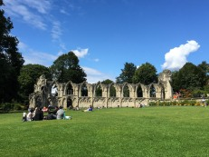 The ruins of St Mary's Abbey